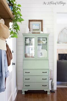 Coastal Plain by Sherwin Williams | Secretary | Dining Room | The Lettered Cottage