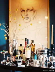 HOW TO CREATE the PERFECT BAR {on a bookshelf, mantle, cart, or even a side table}.