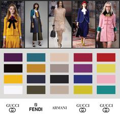Color Schemes 2016, From High Fashion - Color Forecast, Forecasting