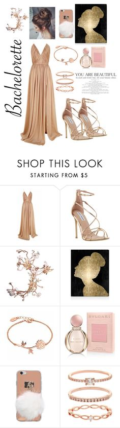 """""""Bachelorette"""" by sweetsugarbeads ❤ liked on Polyvore featuring The 2nd Skin Co., Steve Madden, Oliver Gal Artist Co., Bulgari and Accessorize"""