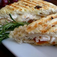 Roasted Chicken, Apricot & Brie Panini