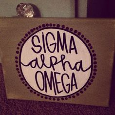 sigma alpha omega sorority canvas on Etsy