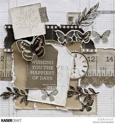 I'm here today to share some cards that I have created using this month's Whisper Collection from Kaisercraft. Arts And Crafts, Paper Crafts, Square Card, Some Cards, Ink Pads, Vintage Cards, Design Crafts, Whisper, Card Making