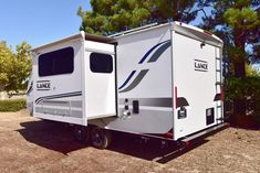 The Lance 1995 Travel Trailer comes with a large slide which adds plenty of additional space for the whole family! Queen Beds, Recreational Vehicles, Walking, Travel Trailers, Space, Gallery, Brother, Floor Space, Camper Trailers