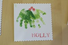 15 Christmas Cards Kids Can Make! - but use fingers instead and on smaller cards for friends