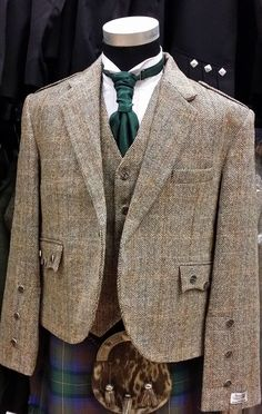 HARRIS TWEED CRAIL Kilt Jacket & Vest  4 KILTS Official Stockist on SALE NOW #HARRISTWEED #OtherJackets