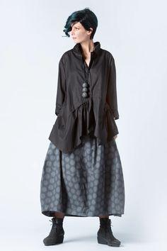 Marigot Shirt in Black Carnaby | KALIYANA.COM Eclectic Style, Gypsy, Comfy, Boho, Skirts, Whimsical, Black, Vintage, Skirt