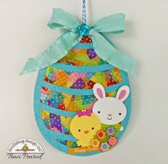 Doodlebug Design Inc Blog: Washi Tape Easter Suncatcher Tutorial with Traci