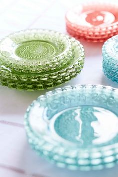Coloured Glass Plates, from £55.00
