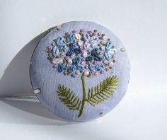 Hey, I found this really awesome Etsy listing at https://www.etsy.com/listing/224673929/art-embroidery-hydrangea-flower-brooch