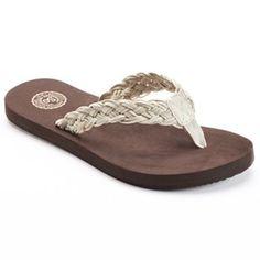 SO® Women's Braided Flip-Flops kohls