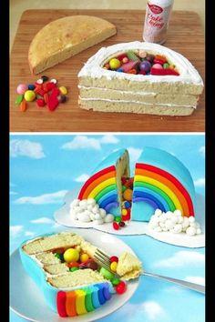 Rainbow Cloud Smash Cake