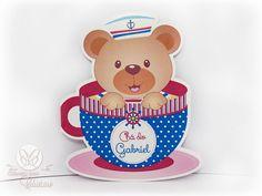 Decoração chá de bebê menino - Marinheiro - convite