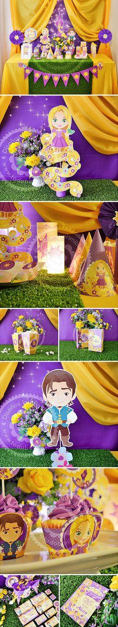 ♥ Esta es la historia de una niña llamada, Rapunzel. Y comienza, con el sol. ♥  #Rapunzel #Enredados #flormagica #imprimibles #kitimprimible #fiesta #party #DIY #Flynn Rider #todobonito #Pascal #Disney #princesa  Click aquí para ver estas decoraciones para imprimir: http://www.todobonito.com
