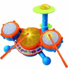 The VTechKidiBeats Drum Set is suitable for kids who love to make noise and tap on surfaces like a little drummer. Children from 1 to 2 years old are tappers – they tap and slap whatever they want but they don't really expect a response from objects. This toy will let them do that using either their hands or the drumsticks, and your child's face will surely light up as music and lights respond to them.