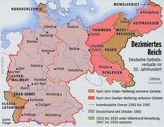 Das dezimierte Deutsche Reich nach 1945