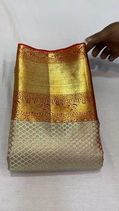 Pattu Sarees Wedding, Indian Bridal Sarees, Bridal Silk Saree, Gold Silk Saree, Kanjivaram Sarees Silk, Kanchipuram Saree, Golden Saree, Wedding Saree Collection, Silk Saree Blouse Designs