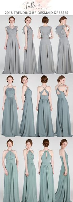 2018 greenery bridesmaid dresses from tulle and chantilly #bridalparty #wedding #bridesmaiddresses