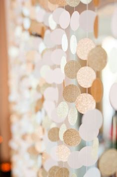 paper wedding garland; This trendy color isn't going away anytime soon. If you want to create a romantic setting for your big day, a little bit (or a lot) of rose gold is just what you need. Featuring rose gold wedding theme, rose gold wedding decoration ideas!