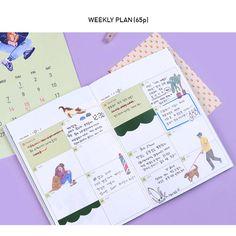 Weekly plan - Doran doran illustration undated diary scheduler