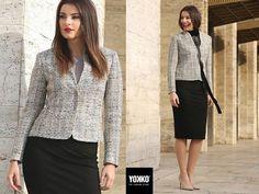 Wear it at the office, wear it at the opera  Variety wool&cotton jacket YOKKO   Fall 16  #jacket #cotton #wool #newcollection #yokkothefashionstore #style #women