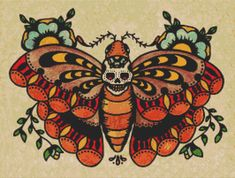 Modern Cross Stitch Kit By Illustrated Ink 'Muerte by GeckoRouge, $83.20