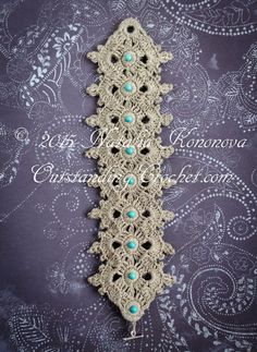 Outstanding Crochet: New crochet bracelet pattern in the store - fiber jewelry - Crochet Celtic Bracelet.