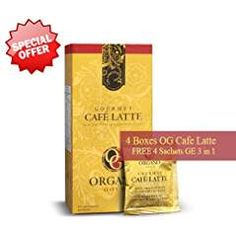 Organo Gold Gourmet Cafe Latte – A Mixture of Smooth and Creamy Coffee with Organic Ganoderma Sachets in 9 Boxes) Café Latte, Coffee Latte, Healthy Cafe, Healthy Drinks, Coffee Store, Coffee Health Benefits, Thinking Day, Instant Coffee, Black Coffee