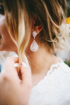 Wedding jewelry Pinterest: @briannanoelmerr Photo from Mr. & Mrs. Merrill | Wedding Day collection by In Frames Photography