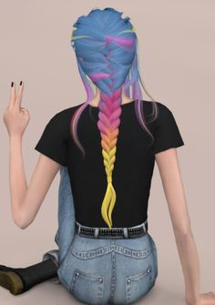 Leahlillith Daydream Recolor Hair for The Sims 4