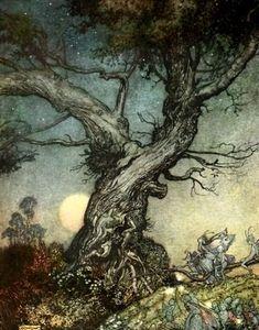www.thewoodcuttersdaughter.com fairy tale illustrator blog post: Arthur Rackham