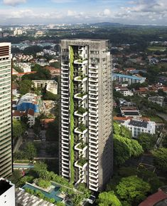 Newton Suites Residential Tower in Singapore by WOHA Architects