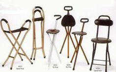 """It's a cane - it's a stool! It's a seat - it's a cane! Transforming canes can get you to where you need to go and then give you a place to rest once you get there. OREDS does not endorse any particular product. Click here for Google Shopping results for """"walking seat cane."""""""
