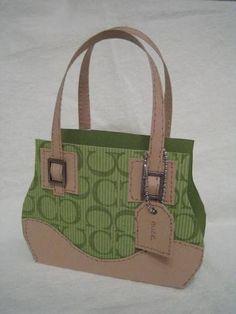 a paper coach purse I made