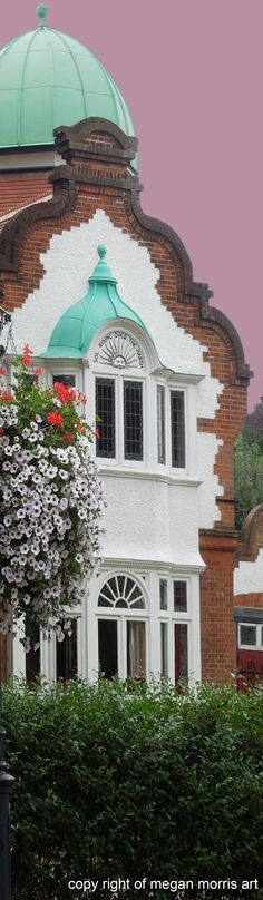 A house in Maidenhead, United Kingdom, by Megan Morris, full photo can be viewed at: http://www.paintingsforsaledirect.com/photos/