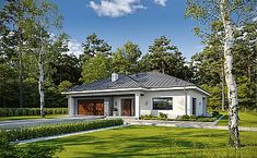 Projekt domu jednorodzinnego KA37 (IN95) | wybieramprojekt.pl Beautiful House Plans, Beautiful Homes, Home Fashion, Mansions, House Styles, Home Decor, Projects, House Of Beauty, Decoration Home