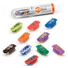10Pcs/set Nano Hex bug Newest Amazing Mini Animal Toys Fun Electronic Pet Toys Robotic Insect For Children Practical Jokes Toys