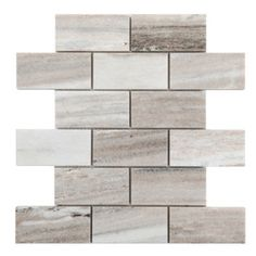 Avenzo Polished Brick Mosaic Marble Floor And Wall Tile (Common: 10-in x 12-in; Actual: 12-in x 10-in)
