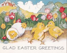 1930s Easter greetings