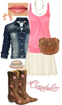 """Brown and Pink"" by crzrdnk77 on Polyvore"