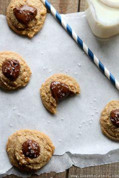 Salted Nutella Peanut Butter Thumbprint Cookies {naturally gluten free}