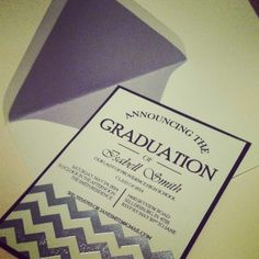Let's celebrate!  This chevron graduation invite can be customized in any color - for more information or to place an order email us at simplysoutherneventsky@gmail.com