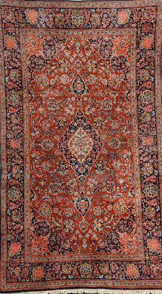 Kurk Kashan Rug, Persia, circa 1930, wool/cotton, approx. 216 x 130 cm