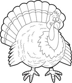 FREE Printable Turkey Coloring Page for Kids is part of Turkey coloring pages - Take a look at this fun Thanksgiving coloring page of a turkey with lots of feathers It's free and printable so come check it out! Turkey Coloring Pages, Free Thanksgiving Coloring Pages, Pumpkin Coloring Pages, Fall Coloring Pages, Preschool Coloring Pages, Printable Coloring Pages, Coloring For Kids, Coloring Books, Thanksgiving Crafts
