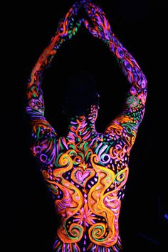 Psychedelic Body Art.