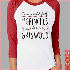 In a world full of Grinches be a Cindy Lou Who! - Holiday Shirts - Ideas of Holiday Shirts - In a world full of Grinches be a Cindy Lou Who! Christmas Time Is Here, Christmas Humor, Christmas And New Year, Winter Christmas, Merry Christmas, Griswold Christmas, Christmas Ideas, Christmas Tshirts Ideas, Cute Christmas Sayings