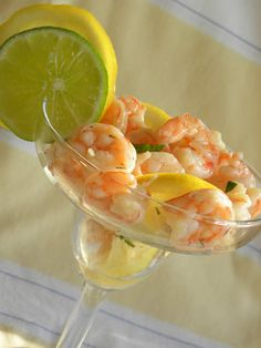 Marinated Shrimp Appetizer ~ tried this, we all thought it was great! I marinated for under two hours and then drained off the liquid. I used lemon-caper mayonnaise as a dip.