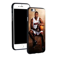 Dwyane Wade Miami Heat Phone Ring Holder Soft TPU Silicone Case Cover for iPhone 4 4S 5C 5 SE 5S 6 6S 7 Plus
