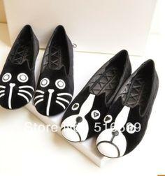 2013 new cat head dog's head LeFu shoes women leather flat shoes $34.99
