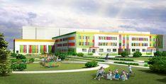 Education Architecture, Facade Architecture, School Architecture, School Building Design, School Design, Art School, High School, Kindergarten Design, Sports Complex
